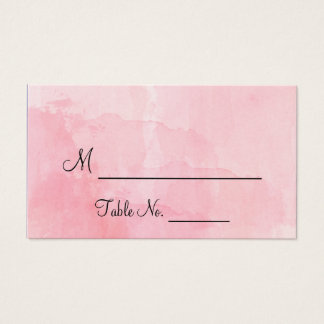 Blush Flower Watercolor Wedding Place Cards