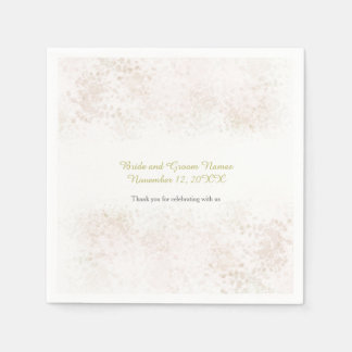 Blush Flush Elegant Wedding Disposable Serviettes
