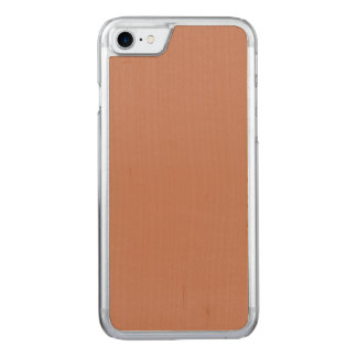 Blush Gold Copper Brown Carved iPhone 7 Case