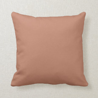 Blush Gold Copper Brown Throw Pillow