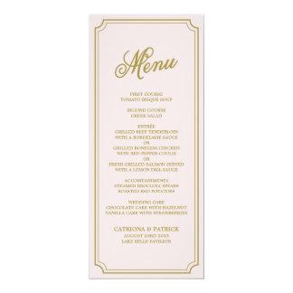 Blush & Gold Whimsical Script Menu Card