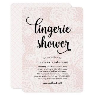 Blush Lace | Lingerie Shower Invitation