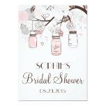 Blush Mason Jars Floral Bridal Shower Invitation 13 Cm X 18 Cm Invitation Card