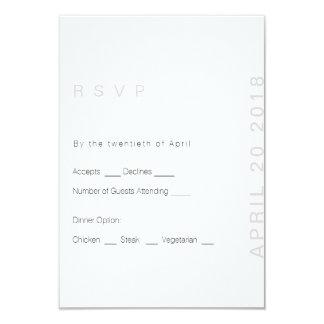 Blush Modern Wedding  RSVP Card