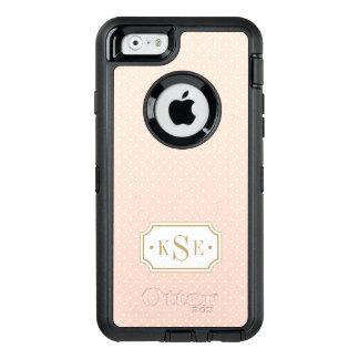 Blush Pink and Gold Elegant Dots Monogram OtterBox iPhone 6/6s Case