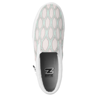 blush pink and mint Modern Geometric Pattern Slip-On Shoes