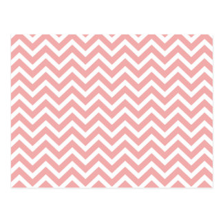 Blush Pink and White Chevron Zig Zag Post Cards