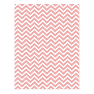 Blush Pink and White Chevron Zig Zag Postcards