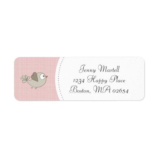 Blush Pink Baby Bird | Address Return Address Label