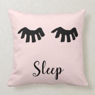 Blush Pink Black Glam Eyelashes Sleep Cushion