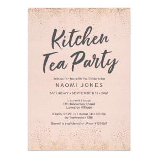 Blush Pink Bridal Shower Invitation