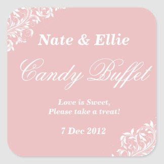 Blush pink candy buffet Sticker