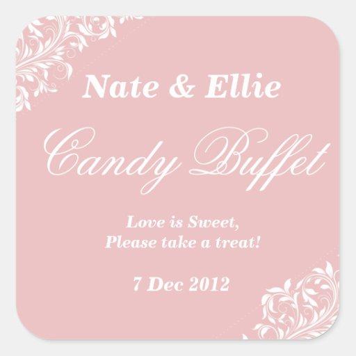 Blush pink candy buffet Sticker