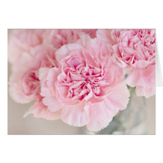 Blush Pink Carnations Card