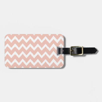 Blush Pink Chevron and White Pattern Luggage Tag