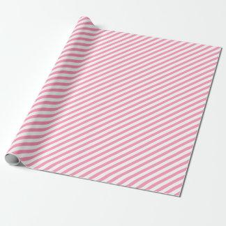 Blush Pink Diagonal Stripes Wrapping Paper
