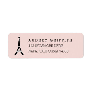 Blush Pink Eiffel Tower Return Address Return Address Label