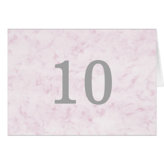 Blush Pink Elegant Marble Table Number