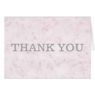 Blush Pink Elegant Marble Thank You Card