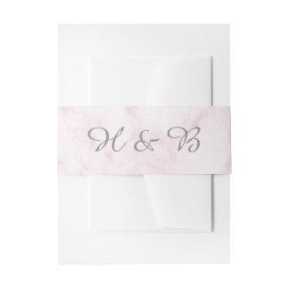 Blush Pink Elegant Marble Wedding Invitation Belly Band