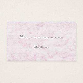 Blush Pink Elegant Marble Wedding Place Cards