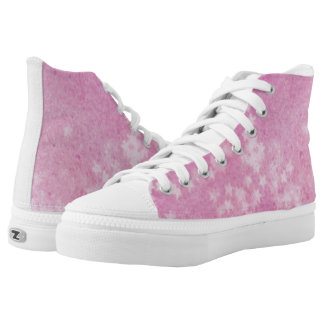 Blush pink faded stars high tops