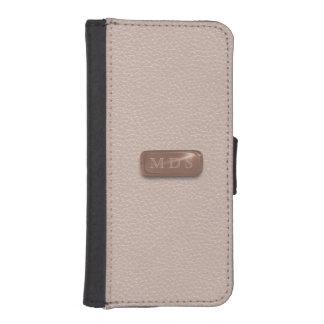 Blush Pink Faux Rose Gold 3D iPhone Wallet Case