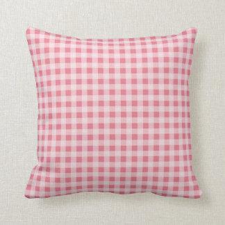 Blush Pink Gingham Cushion