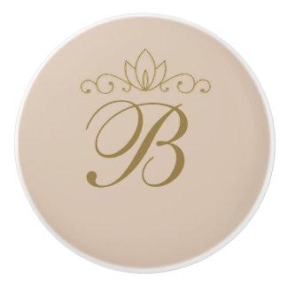 Blush Pink & Gold Elegant Chic Custom Glam Decor Ceramic Knob