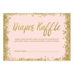 Blush Pink Gold Glitter Diaper Raffle Ticket Pack Of Chubby Business Cards