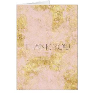 Blush Pink Gold Grunge Card