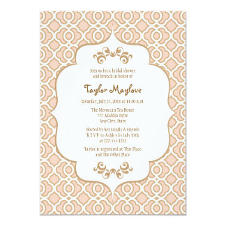Blush Pink Gold Moroccan Bridal Shower Invites