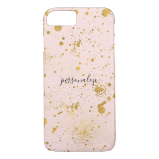Blush Pink Gold Splatters iPhone 8/7 Case
