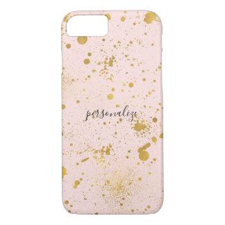 Blush Pink Gold Splatters iPhone 8/7 Case