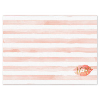 Blush Pink Gold XOXO Watercolor Kiss Tissue Paper