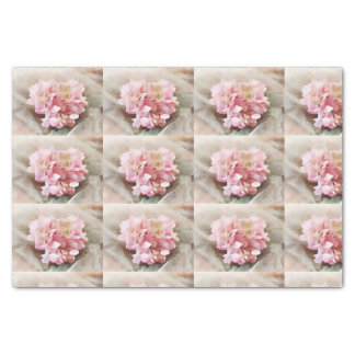 Blush Pink Heart Hydrangea Tiles for decoupage Tissue Paper