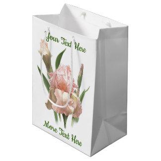 Blush Pink Iris Medium Gift Bag