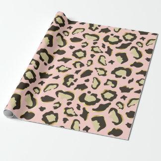 Blush Pink Leopard Spots Pattern