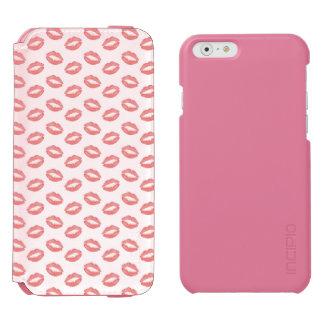 Blush Pink Lipstick Kisses Incipio Watson™ iPhone 6 Wallet Case
