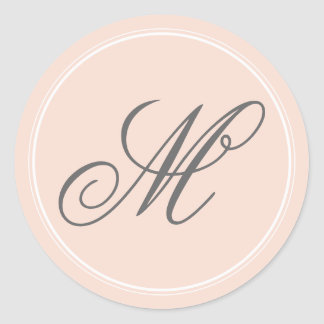 Blush Pink Monogram Stickers