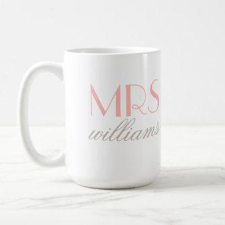 Blush Pink Mrs. Coffee Mug | Bride-to-Be Gift