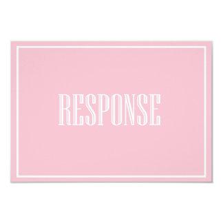 Blush Pink Old Fashion Typography RSVP Card 9 Cm X 13 Cm Invitation Card