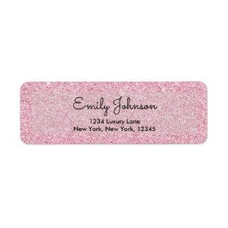 Blush Pink or Rose Gold Sparkle and Glitter Return Address Label
