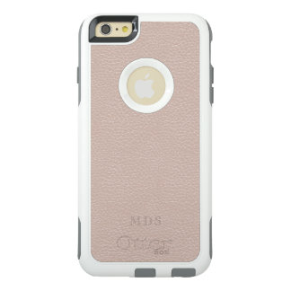 Blush Pink OtterBox Faux Leather Monogram White OtterBox iPhone 6/6s Plus Case