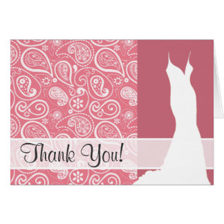 Blush Pink Paisley; Floral Note Card