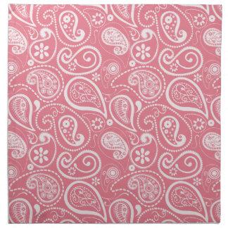 Blush Pink Paisley; Floral Cloth Napkin