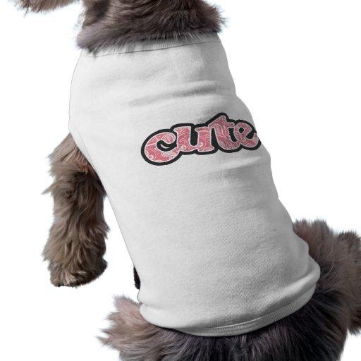 Blush Pink Paisley; Floral Dog Tshirt