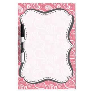Blush Pink Paisley Floral Dry-Erase Whiteboard