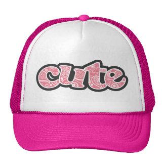 Blush Pink Paisley; Floral Mesh Hats