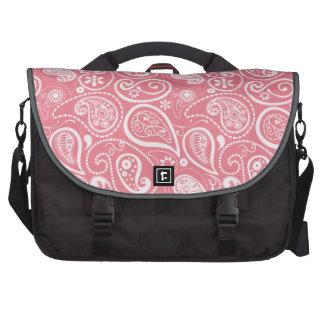 Blush Pink Paisley; Floral Laptop Bag